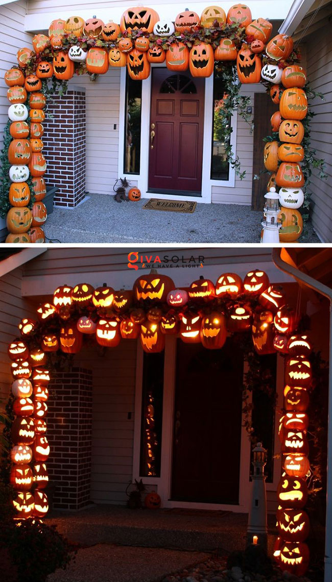 ý tưởng trang trí Halloween ngoài trời 14