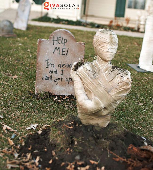 ý tưởng trang trí Halloween ngoài trời 16