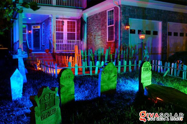ý tưởng trang trí Halloween ngoài trời 25