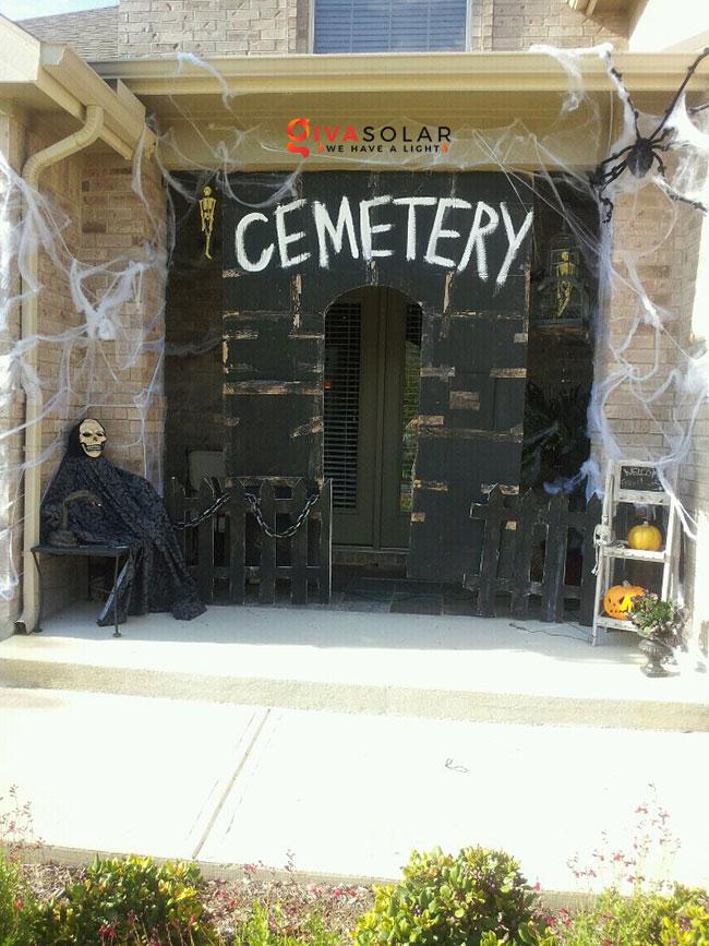ý tưởng trang trí Halloween ngoài trời 47