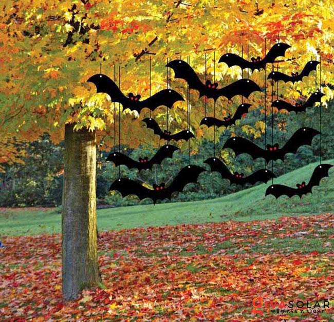 ý tưởng trang trí Halloween ngoài trời 49