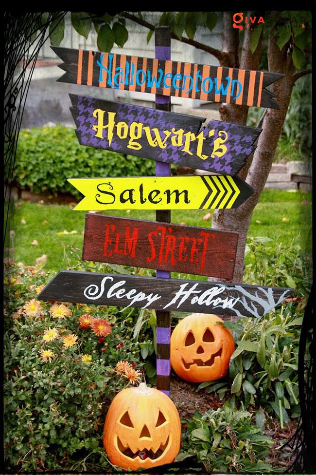 ý tưởng trang trí Halloween ngoài trời 54