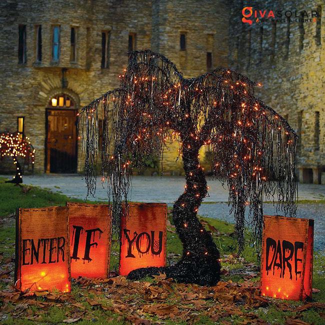 ý tưởng trang trí Halloween ngoài trời 57