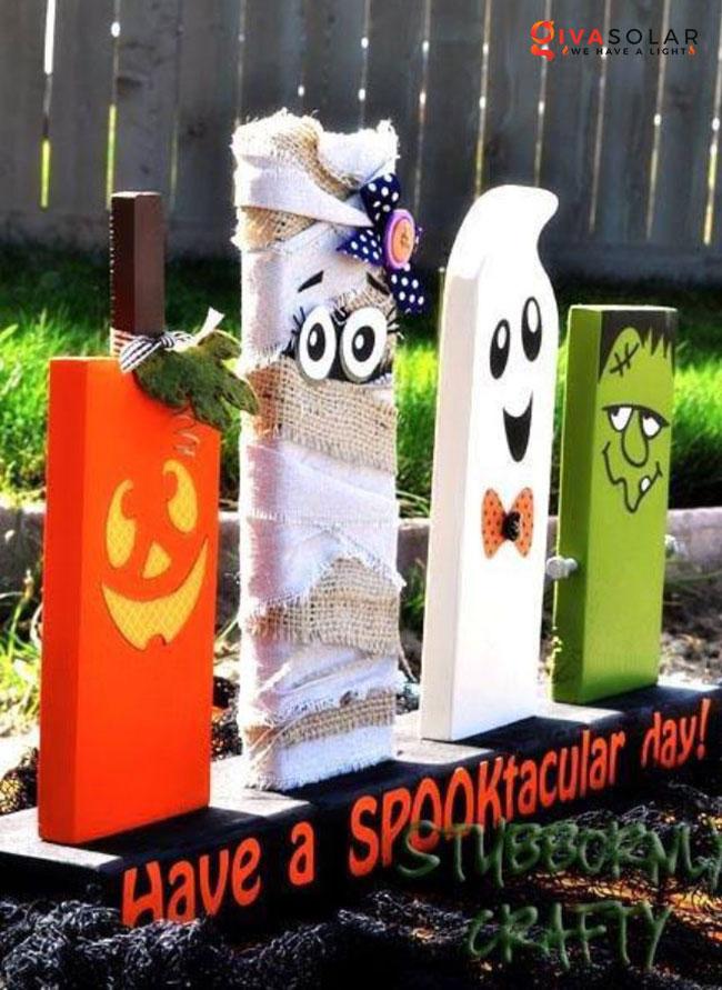 ý tưởng trang trí Halloween ngoài trời 58