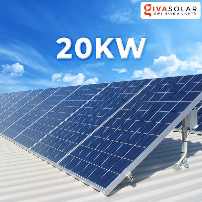 Hệ thống điện năng lượng mặt trời hòa lưới 20KW