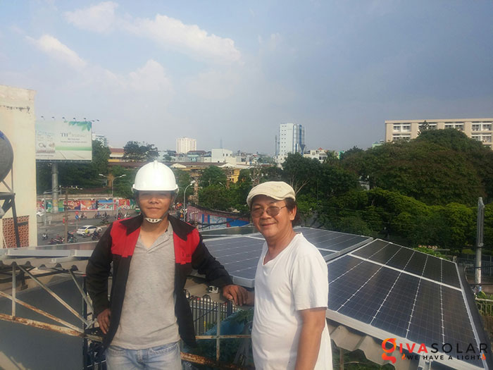 Lắp đặt hoàn thành hệ thống hòa lưới 3KW tại Tân Phú 1