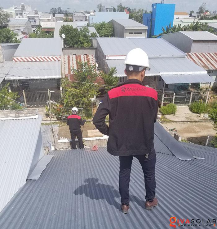 Lắp đặt hệ thống điện mặt trời 4KW mái tôn tại Cần Thơ 1