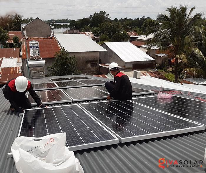 Lắp đặt hệ thống điện mặt trời 4KW mái tôn tại Cần Thơ 5