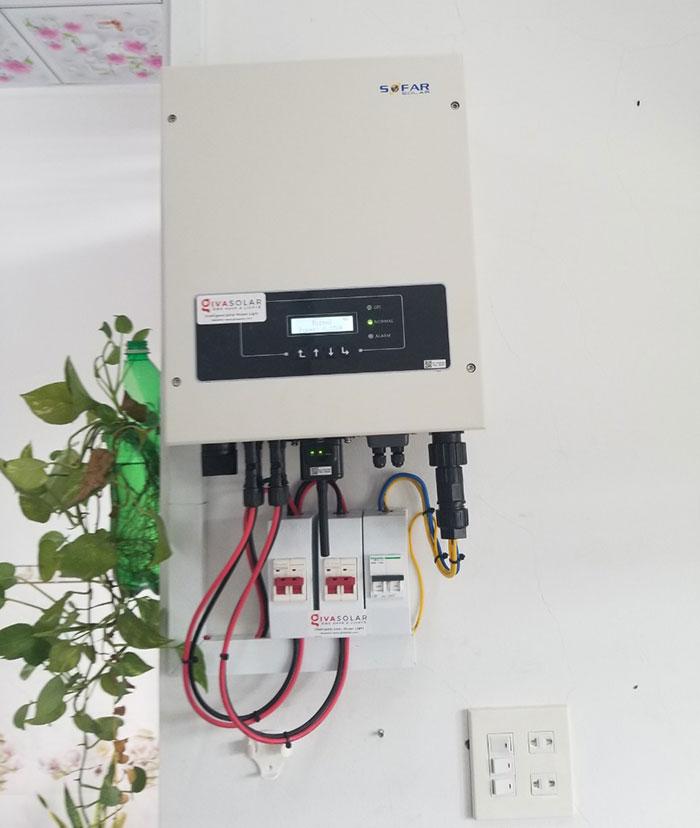 Lắp đặt hệ thống điện mặt trời 4KW mái tôn tại Cần Thơ 6