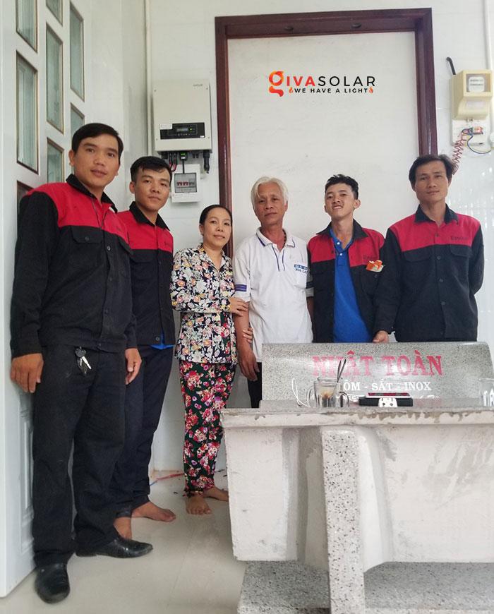 Lắp đặt hệ thống điện mặt trời hòa lưới 5KW tại Kiên Giang 1