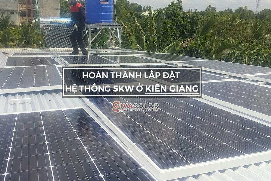 Lắp đặt hệ thống điện mặt trời hòa lưới 5KW tại Kiên Giang