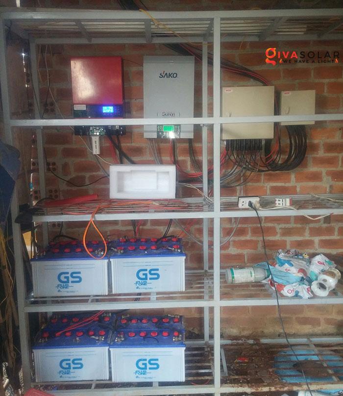 Lắp đặt hệ thống năng lượng mặt trời độc lập 5KW ở Bình Phước 12