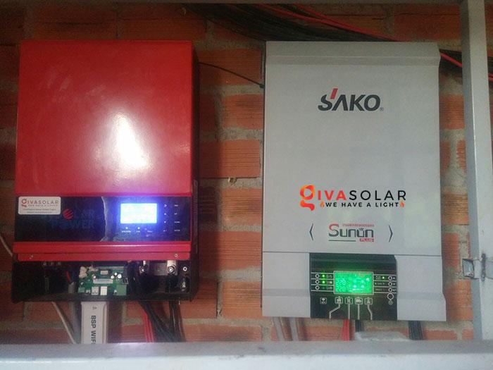 Lắp đặt hệ thống năng lượng mặt trời độc lập 5KW ở Bình Phước 14