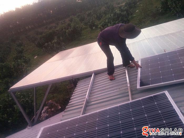 Lắp đặt hệ thống năng lượng mặt trời độc lập 5KW ở Bình Phước 2
