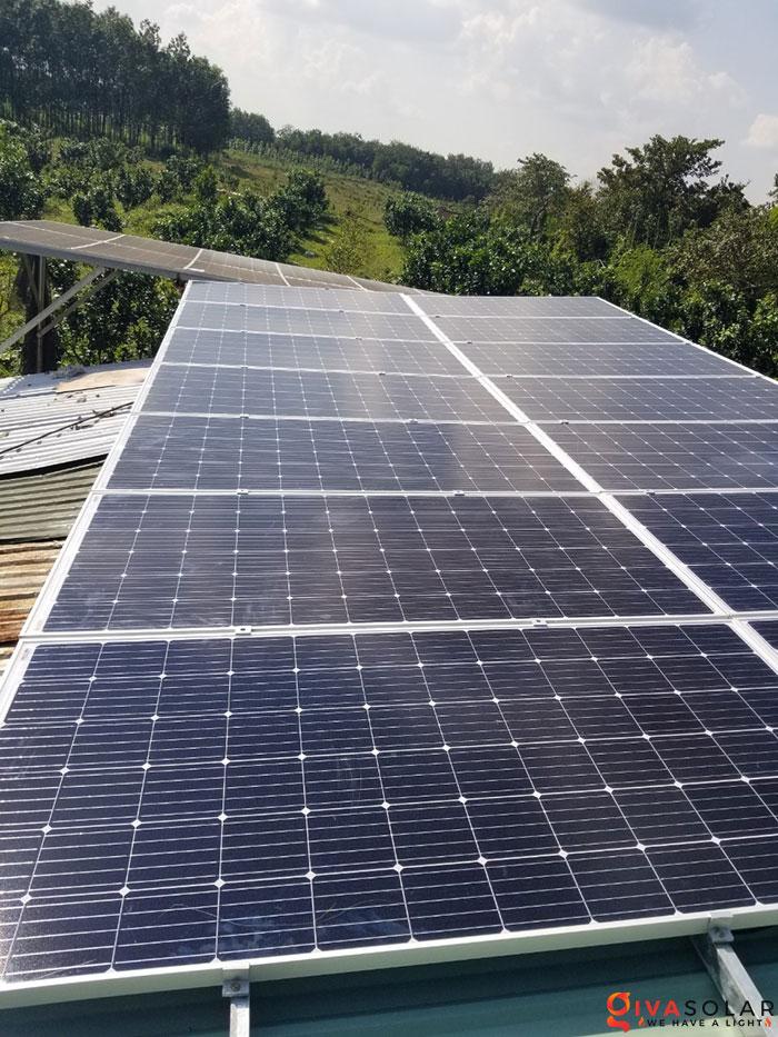 Lắp đặt hệ thống năng lượng mặt trời độc lập 5KW ở Bình Phước 4