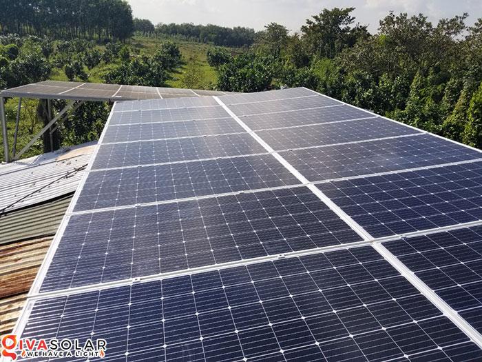 Lắp đặt hệ thống năng lượng mặt trời độc lập 5KW ở Bình Phước 5
