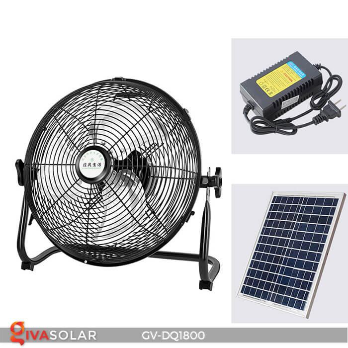 Quạt chạy bằng năng lượng mặt trời GV-DQ1800 12