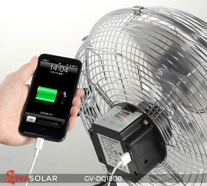 Quạt chạy bằng năng lượng mặt trời GV-DQ1800 13