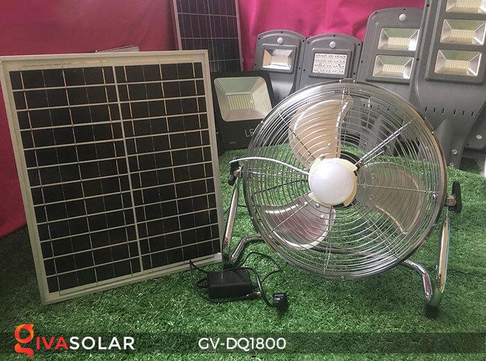 Quạt chạy bằng năng lượng mặt trời GV-DQ1800 4