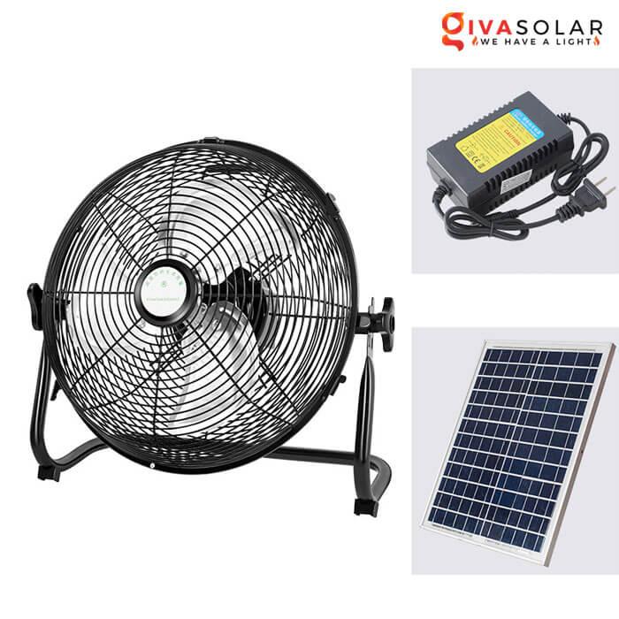 Quạt chạy bằng năng lượng mặt trời GV-DQ1800