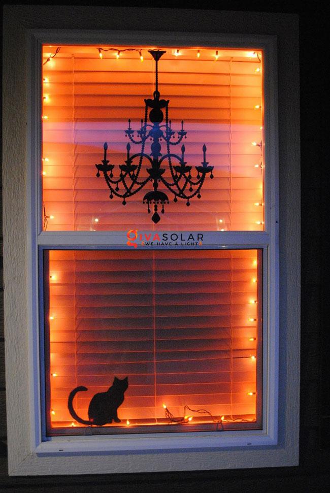 Ý tưởng trang trí cửa sổ Halloween 1