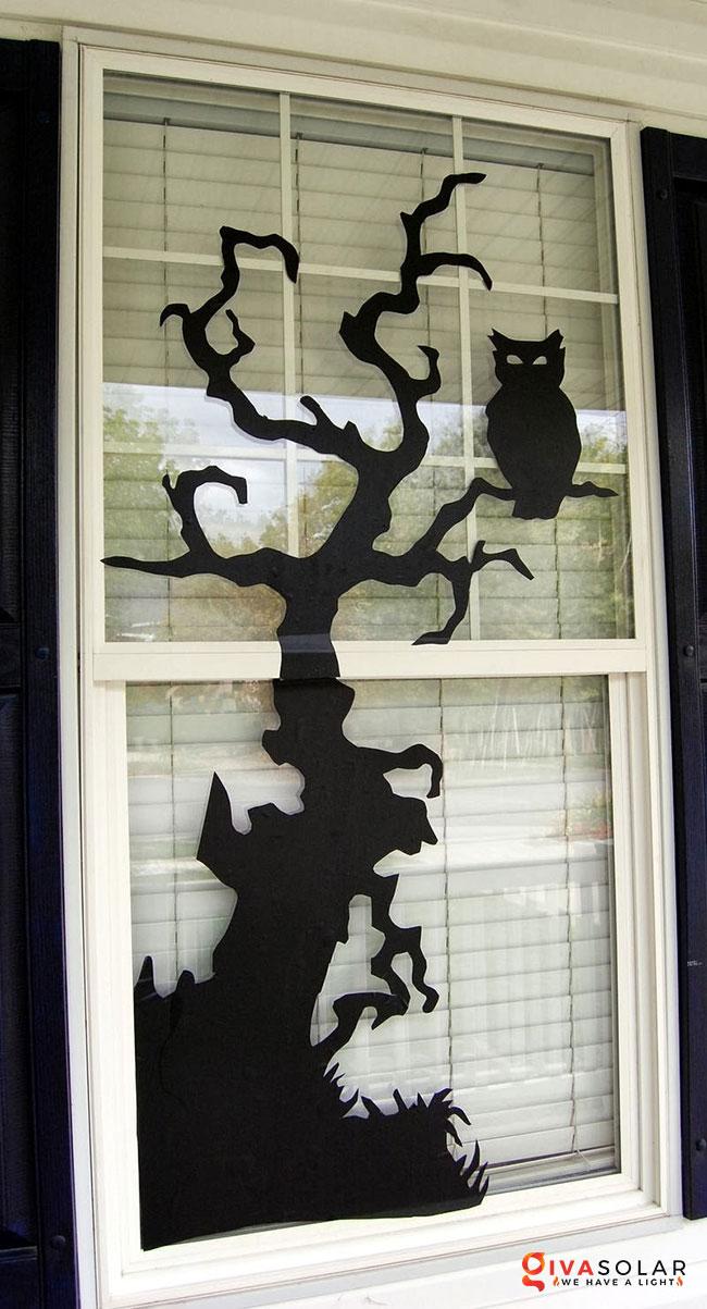 Ý tưởng trang trí cửa sổ Halloween 13