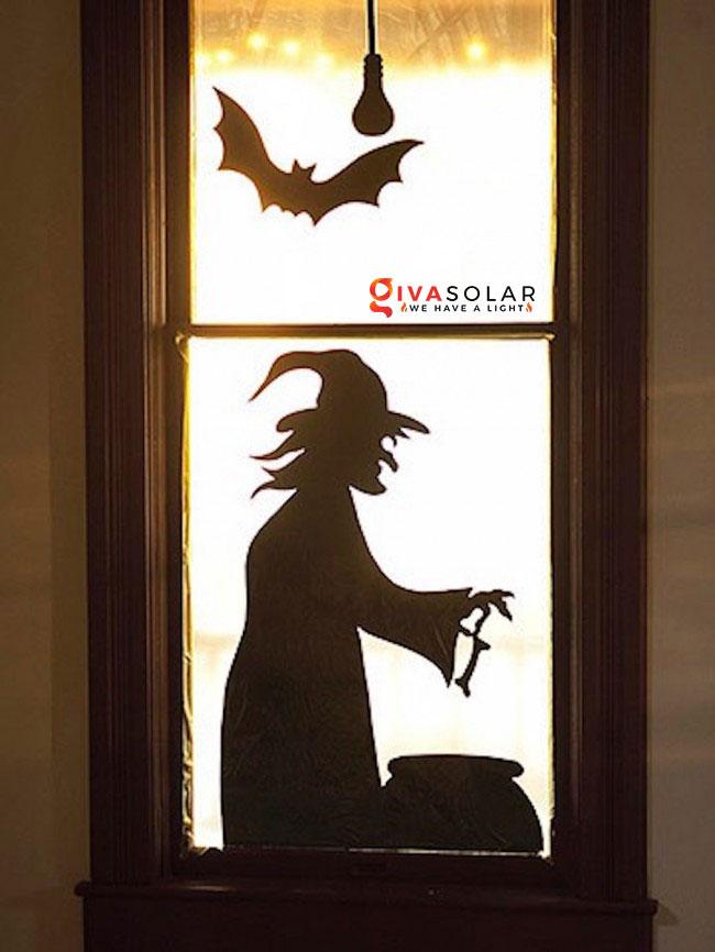 Ý tưởng trang trí cửa sổ Halloween 19