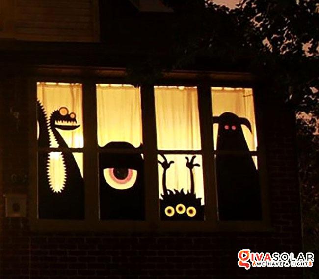Ý tưởng trang trí cửa sổ Halloween 2