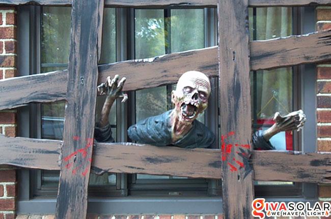 Ý tưởng trang trí cửa sổ Halloween 3