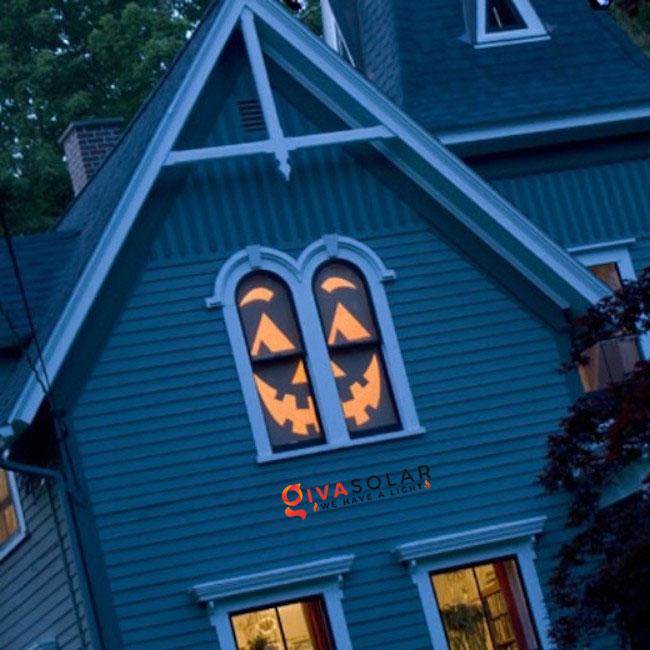 Ý tưởng trang trí cửa sổ Halloween 30
