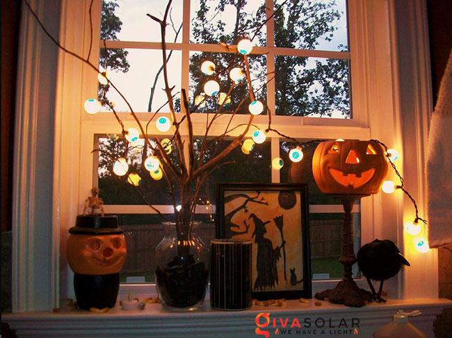 Ý tưởng trang trí cửa sổ Halloween 31