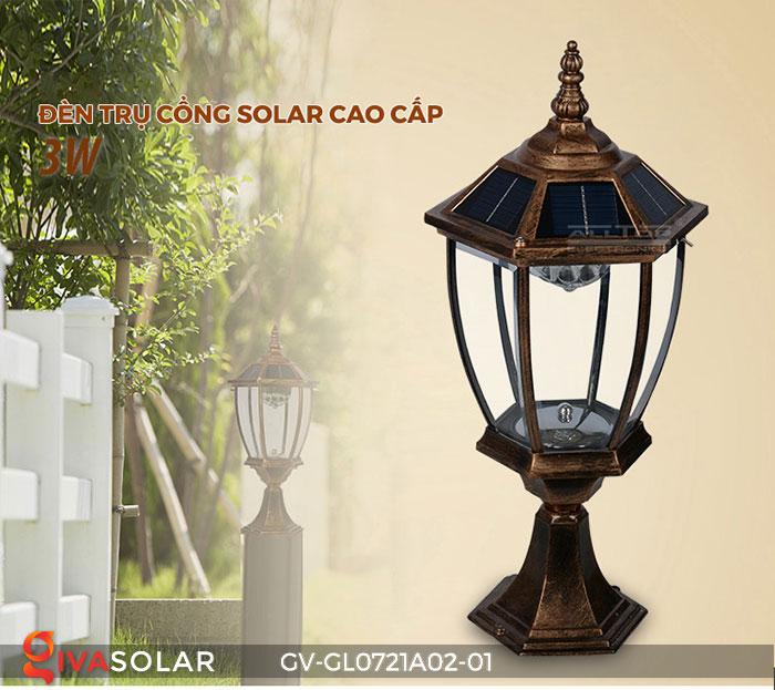 Đèn cổng năng lượng mặt trời GV-GL0721A02-01 1