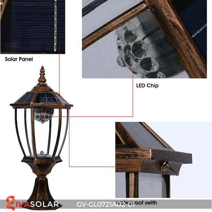 Đèn cổng năng lượng mặt trời GV-GL0721A02-01 18