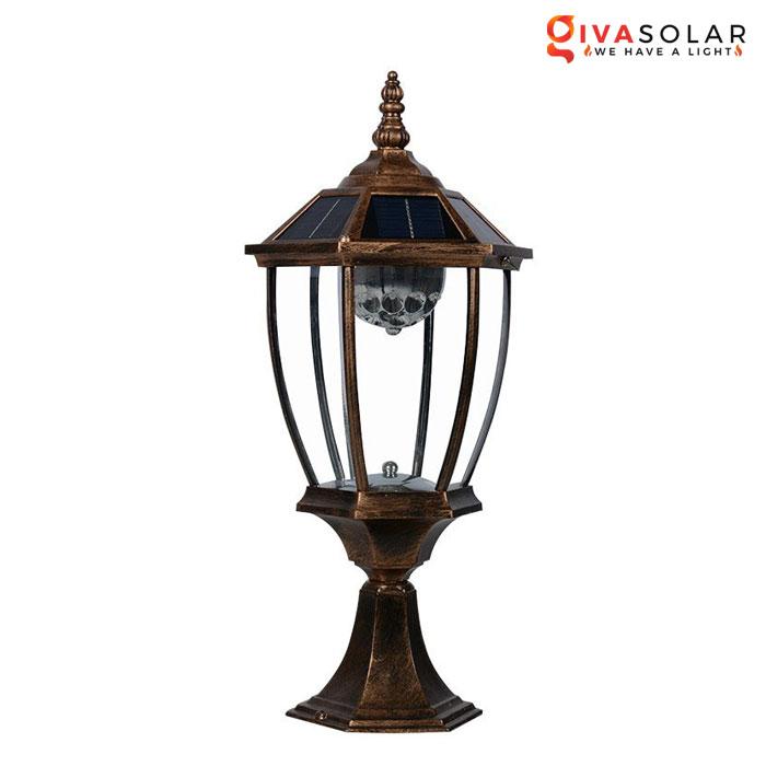 Đèn cổng chạy năng lượng mặt trời GV-GL0721A02-01