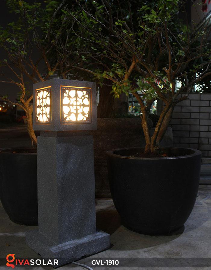 Đèn đá sân vườn trụ vuông GVL-1910 11