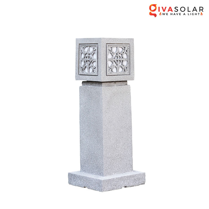 Đèn đá sân vườn trụ vuông GVL-1910