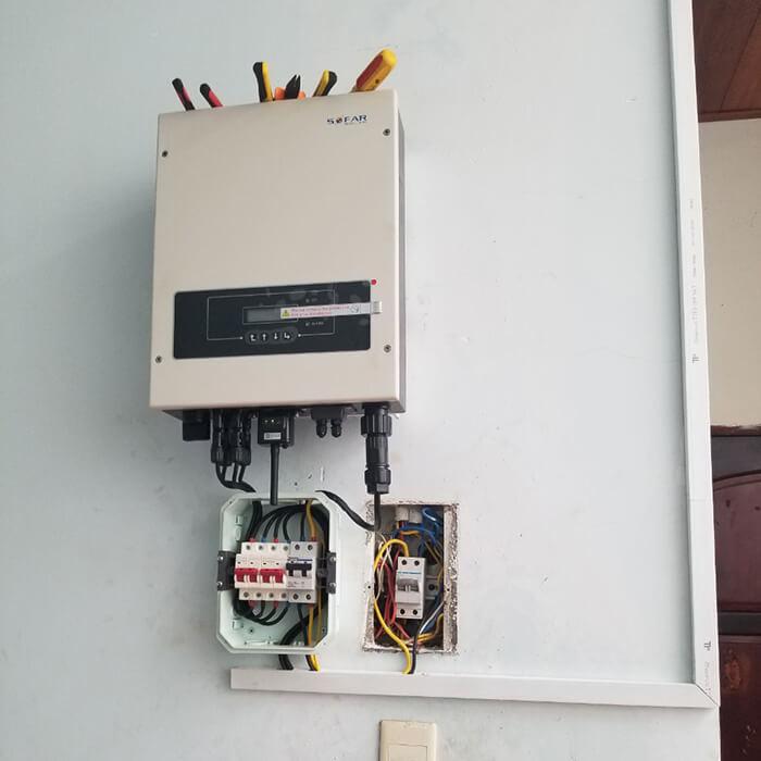 Lắp đặt điện mặt trời hòa lưới cho gia đình 5KW ở Bình Dương 12