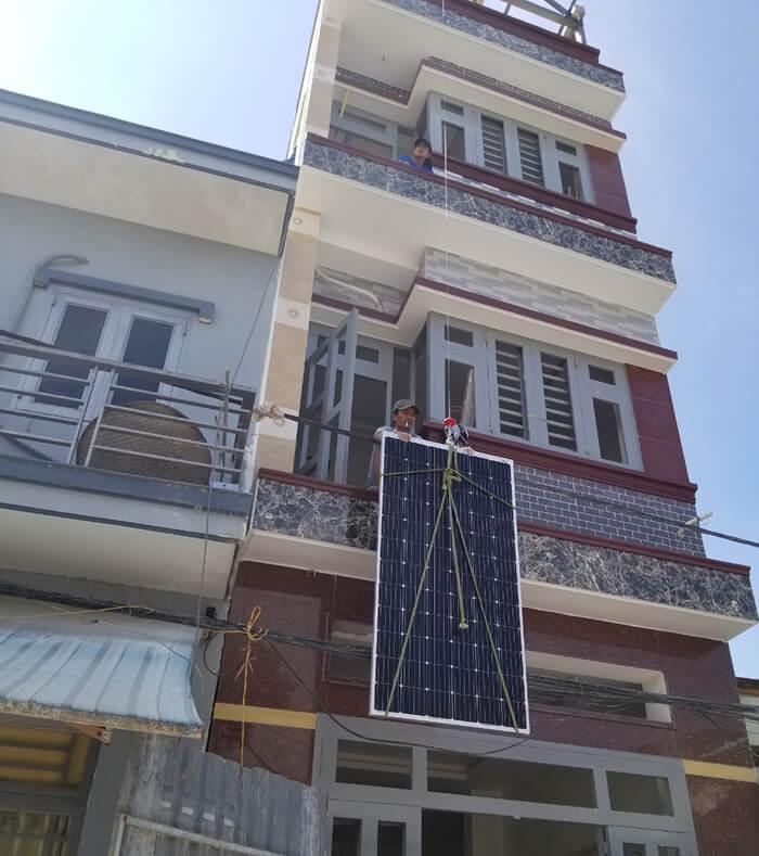 Lắp đặt hoàn thành hệ thống hòa lưới 6.8KW ở Bình Tân 1