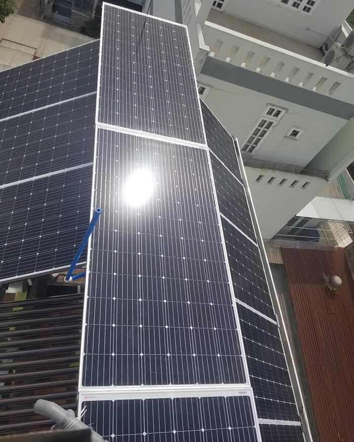 Lắp đặt hoàn thành hệ thống hòa lưới 6.8KW ở Bình Tân 14