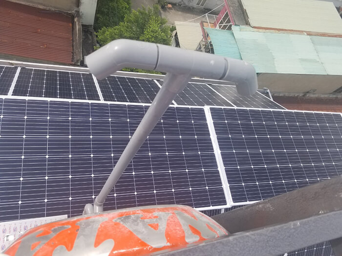 Lắp đặt hoàn thành hệ thống hòa lưới 6.8KW ở Bình Tân 15