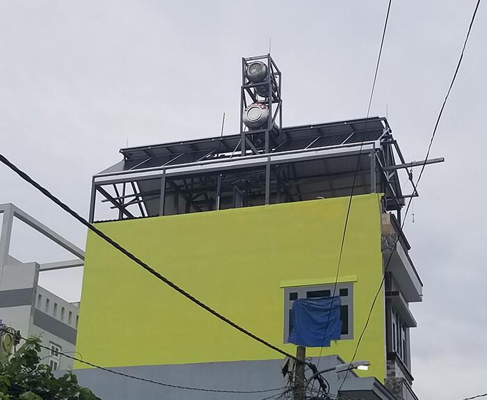 Lắp đặt hoàn thành hệ thống hòa lưới 6.8KW ở Bình Tân 17