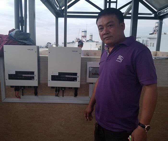 Lắp đặt hoàn thành hệ thống hòa lưới 6.8KW ở Bình Tân 19