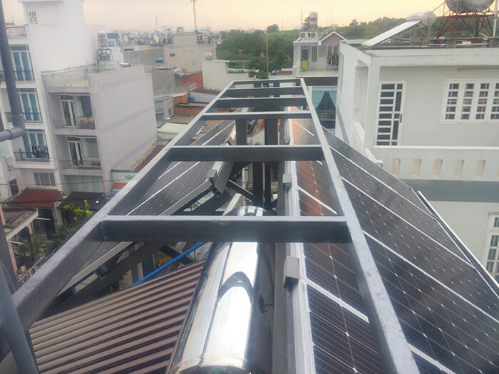 Lắp đặt hoàn thành hệ thống hòa lưới 6.8KW ở Bình Tân 2