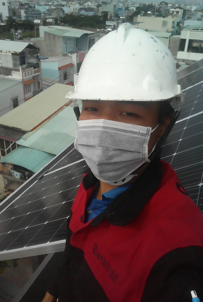 Lắp đặt hoàn thành hệ thống hòa lưới 6.8KW ở Bình Tân 9