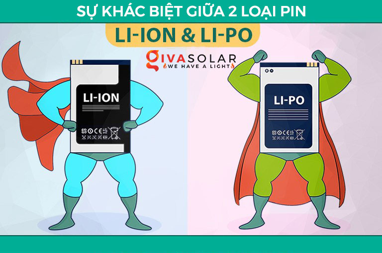 pin li-ion Vs. Li-po