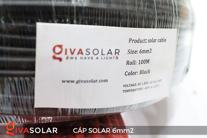 Cáp Solar DC 6mm2 7