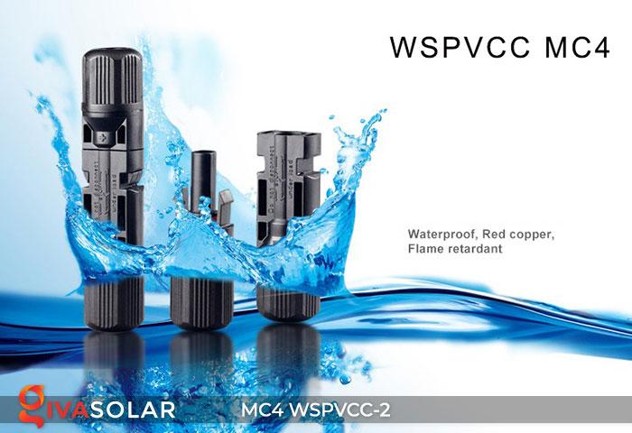Đầu nối MC4 WSPVCC-2 IP67 DC 1000V 4