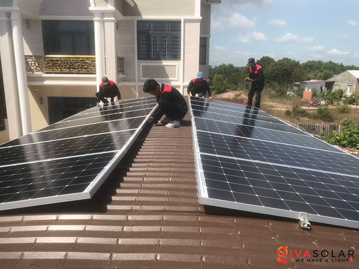 lắp đặt hệ thống hòa lưới áp mái 5KW cho khách Bình Thuận 2