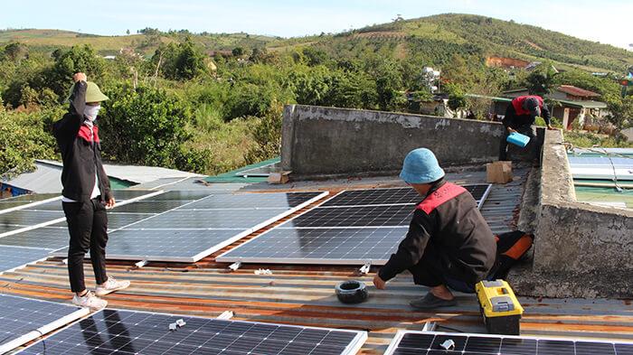 hệ thống điện mặt mặt trời 40KW hòa lưới 3 pha Ở Lâm Đồng 10