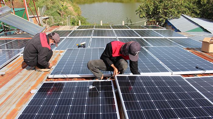hệ thống điện mặt mặt trời 40KW hòa lưới 3 pha Ở Lâm Đồng 11